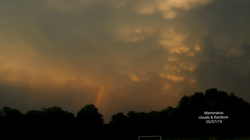 Mammatus Clouds & Rainbow