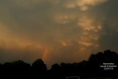 Mammatus Clouds & Rainbow
