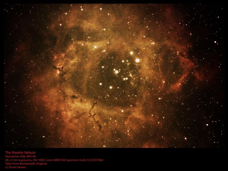 Rosette Nebula Caldwell 49, by Simon Dawes