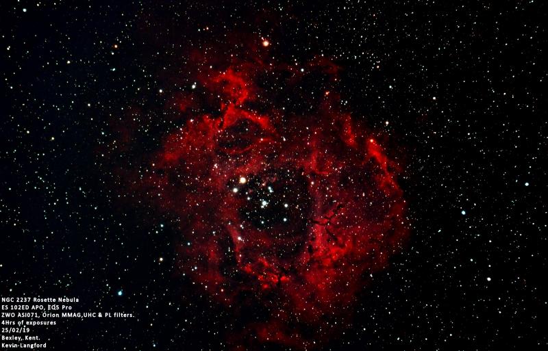 NGC 2237 Rosette Nebula KL