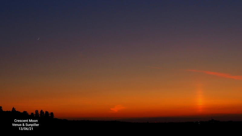 Conjunction - Moon, Venus, Sun Pillar Sun Set JB