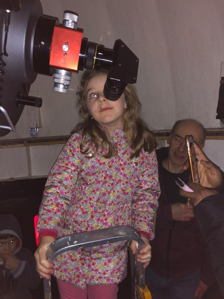 A Child from Sutton-at-Hone Enjoying Astronomy- parental Permissing given#1.