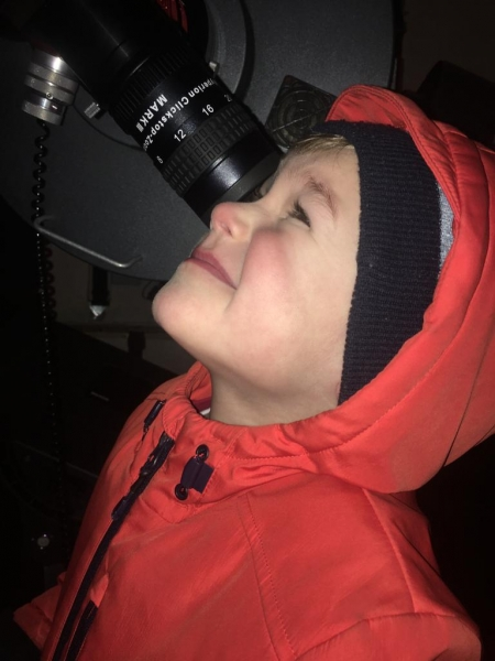 A Child from Sutton-at-Hone Enjoying Astronomy- parental Permissing given#6