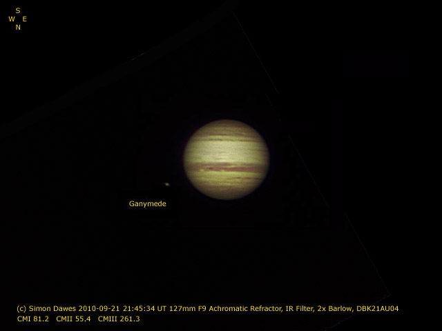 SD: Jupiter 2010-Sep-21 21:45UT