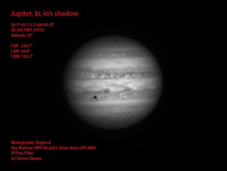 SD: Jupiter 2017-05-13 21:00UT