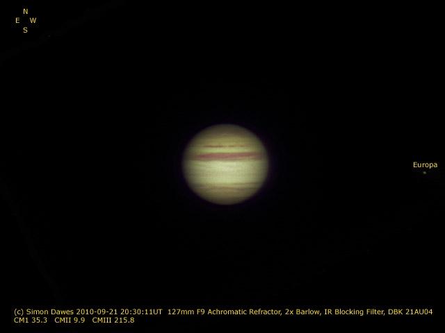 SD: Jupiter 2010-09-21 20:30UT
