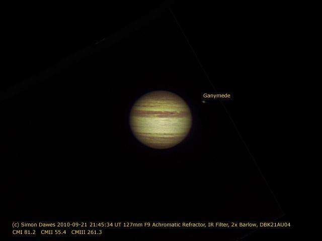 SD: Jupiter 2010-09-21 21:45UT