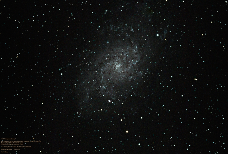 M 33 Triangulum Galaxy 2018 NW