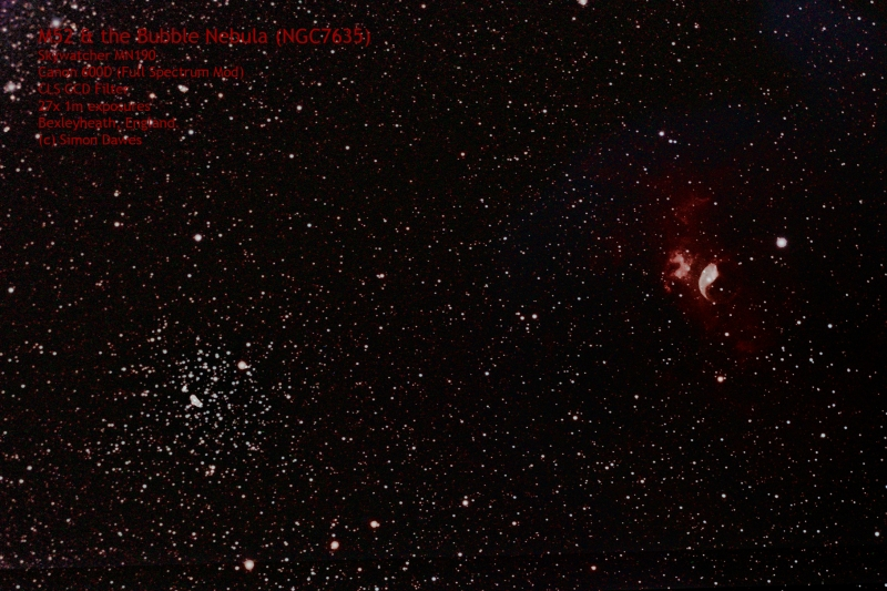 M52 and the Bubble Nebula Simon Dawes