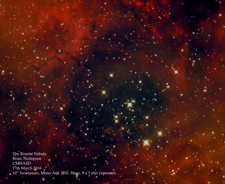 Rosette Nebula Brian Thompson 17th March 2016 master