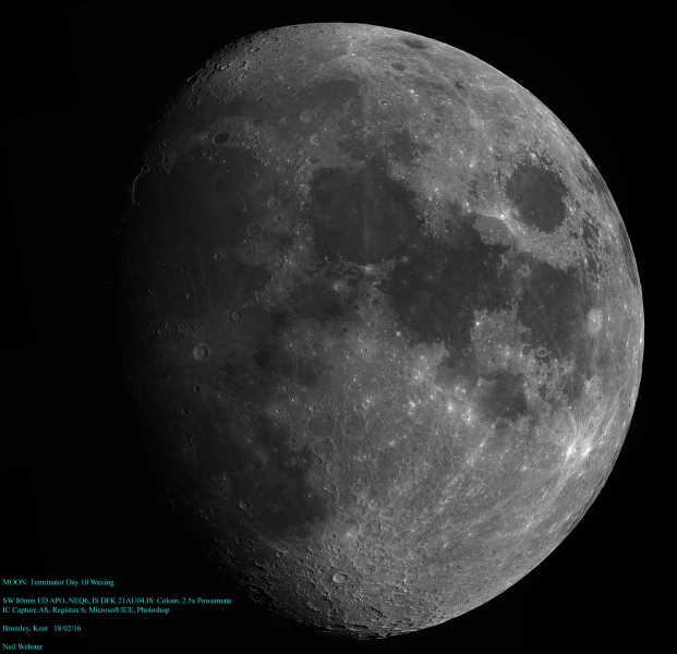 Moon Neil Webster 18th Feb Waxing