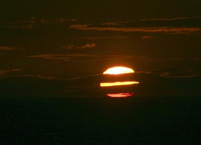 Sun set over Perin Sands