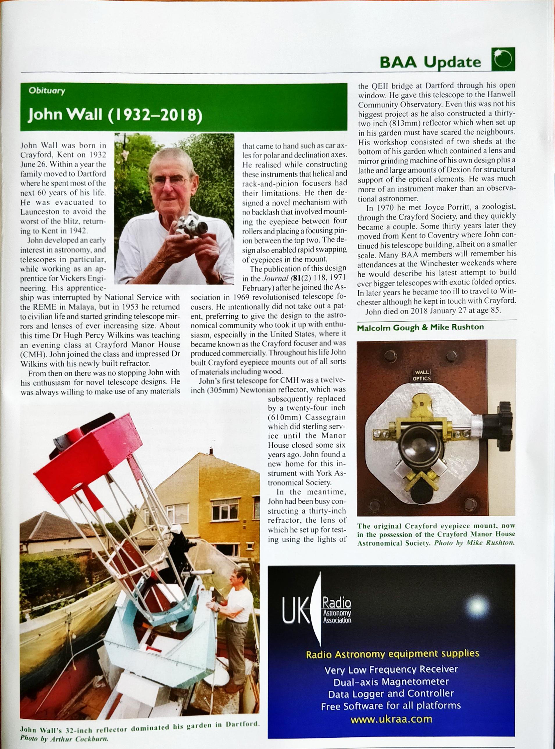 John Wall Obituary